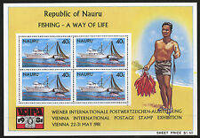 Nauru   1981   Scott # 230a    Mint Never Hinged Souvenir Sheet