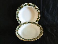 ANTIQUE MEISSEN HAND PAINTED SUP PLATES FROM 19 CENTURY,SOLD BY COLLAMORE CO.