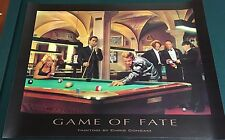 "GAME OF FATE by Chris Consani (1997) vintage 24"" x 32"" poster The Three Stooges"
