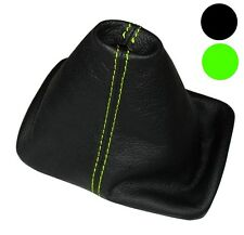 Soufflet de levier vitesse noir CUIR coutures vertes pour VW New Beetle 97-10