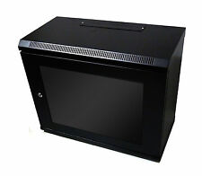 12U 450mm Black Wall Cabinet Network Data Rack For Patch Panel, PDU & LAN Switch