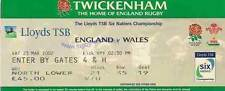 ENGLAND v WALES 23 Mar 2002 RUGBY TICKET
