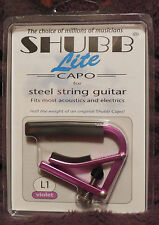 Shubb L1 Lite for Steel String in Violet Aluminum NIB FREE Shipping