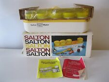 SALTON YOGURT MAKER THERMOSTAT CONTROLLED 1976 AUTOMATIC YOGURT MAKER OLD NEW