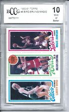 1980 Topps Larry Bird Magic Johnson Rookie Card BCCG 10 Beckett Julius Erving