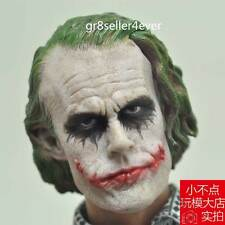 Custom 1/6 Scale Joker Heath Ledger Head Sculpt The Dark Knight fit Hot Toys#US