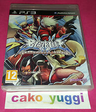 BLAZBLUE CONTINUUM SHIFT SONY PS3 NEUF SOUS BLISTER VERSION FRANCAISE