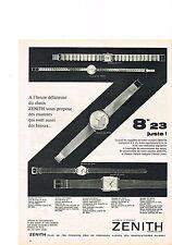 PUBLICITE ADVERTISING  1960   ZENITH      le précis le précieux montre