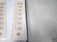 TIMBRE FRANCE NEUF CARNET bande 1988 N° 2526 journée du timbre vendu à faciale