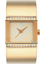 French Connection FC1015G Ladies Gold Stone set case- SECOND
