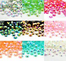 4000 Crystal Flat Back Iridescent Nail Art Face Festival Rhinestones Gems AB 3mm