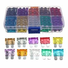 100pcs Standard Blade Fuse Assortment Auto Car Truck Fuses Kits 2A-35A + Box