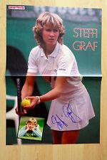 Steffi Graf Autogramm signed 28x42 cm Poster gefaltet