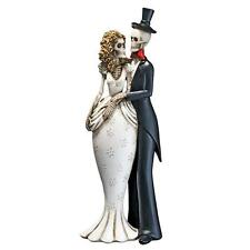 "10"" The Living Dead Skeleton Bride and Groom Love Never Dies Marriage Statue"