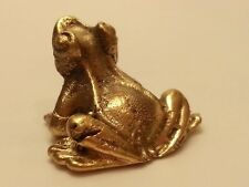 BRASS FROG MINIATURE FIGURINE VINTAGE COLLECT LOVELY ANIMAL STATUES HOME DECOR