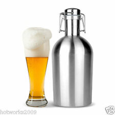 Beer Growler 64oz Swing Top Hip Flask Ultimate Growler 2L Botella Bottle
