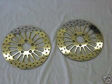 "2000'-2007' SS POLISHED HARLEY 11.5"" BRAKE ROTORS FLHRC ROAD KING-2 FRONT ROTORS"