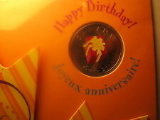 CANADA 2010 RARE COLOURED 25 C COIN HAPPY BIRTHDAY IN ROYAL CANADIAN MINT SET