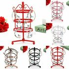 Round Stand Rotating Metal 72pairs for Earrings Display Rack Jewelry Holder