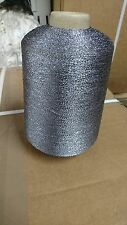 Gun Metal Grey Glitter/Lurex Yarn On 500g Gram Cone.