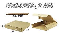 SCATOLE CARTONE 50 PZ 32x32x5 ,5 FUSTELLATA IMBALLO  SPEDIZIONE BAULETTO PIATTE