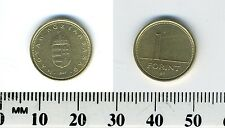 Hungary 1997 - 1 Forint Nickel-Brass Coin - Crowned shield