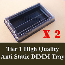 x2 ANTI STATIC DIMM Memory tray box container for Server/Desktop DDR2 DDR3, DDR4