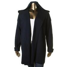 Lauren Ralph Lauren 5395 Womens Navy Wool Hooded Cardigan Sweater XL BHFO