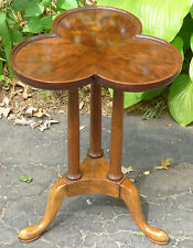 Old Baker Furniture Small Side Table Candle Stand Queen Anne Clover Leaf Top