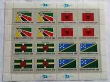UN Flag Series 20 Cent Stamps Mozambique Dominica Solomon Islands Albania