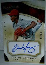 2014 14 CARLOS MARTINEZ CLE INDIANS IMMACULATE COLLECTION AUTOGRAPH AUTO # / 99