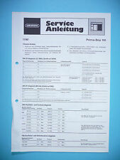 Service Manual for Grundig Prima Boy 100,ORIGINAL