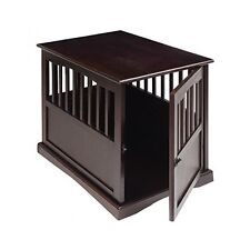 Dog Kennel Wood Medium Size Puppy Crate Pet Cage Wooden Furniture End Table Bed