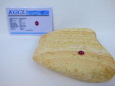 Roter Rubin(Mosambik) Cabochon-1,50 Karat -0,29 Gramm - Zertifikat - DR - Korund