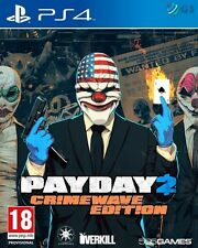 PayDay 2 Crimewave Edition PS4 * NEW SEALED PAL *