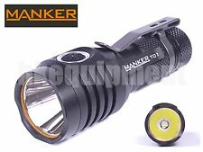 MANKER Quinlan T01 II Cree XP-L HI Cool White LED 900lm 14500 AA Flashlight Bk