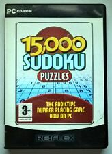 15,000 Sudoku Puzzles, PC CD-Rom Game.