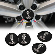 4PCS 56.5mm Wheel Center Hub Caps Shelby Cobra Emblem Badge Sticker For Mustang