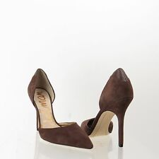 Women's Sam Edelman Delilah Brown Suede Leather Heel Pointy Toe Pumps Sz 8 M NEW