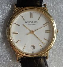 mens Swiss Raymond Weil gold plated quartz wristwatch