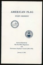USA #1208 1963 5c American Flag Stamp First Day Ceremony Program
