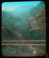 GLASS MAGIC LANTERN SLIDE MYANOSHITA RIVER C1910 JAPANESE JAPAN