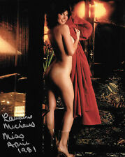 LORRAINE MICHAELS 04/1981 PLAYBOY PLAYMATE SEXY SIGNED PHOTO  (IN2)