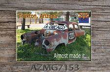 Route 66 Fridge Magnet Old Rusted Car found on Route 66 in Truxton, AZ