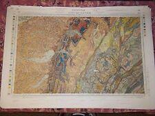 """""""LONS-LE-SAUNIER"""" CARTE no 138 - GEOLOGIQUE/TOPOGRAPHIQUE 1/80 000 / 2e EDITION"""