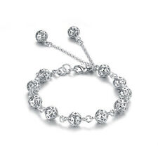 Jewelry 925 Sterling Silver Bracelets Pearl Round White Women's Engagement Free