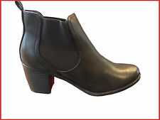 Cats Eyes Womens/Ladies Twin Gusset Ankle Boots Brown Black Size 3-8
