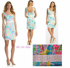 $198 Lilly Pulitzer Serena Resort white Spring Fling Beaded Waist Sheath Dress 6