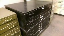5 DRAWER LYON BLUEPRINT FILE CABINET ARCHITECTURAL FLAT FILES ART 44x35 with TOP