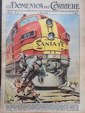 1956 TRENO SANTA FE LOCOMOTIVA MACCHINISTA FERROVIA AMERICANA RAILROAD TRAIN